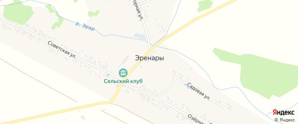 Нагорная улица на карте деревни Эренары с номерами домов