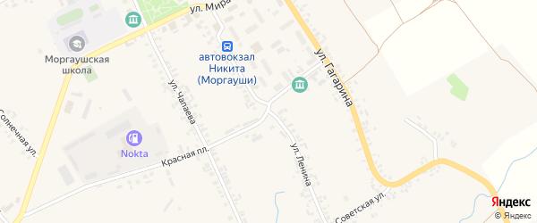 Улица Ленина на карте села Моргаушей с номерами домов