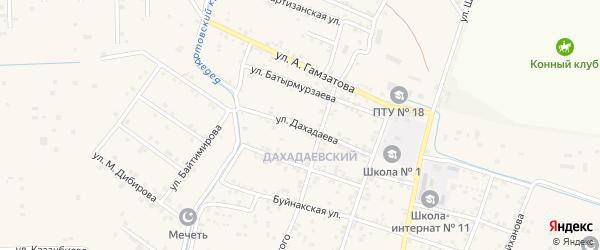 Улица Дахадаева на карте села Бабаюрта с номерами домов