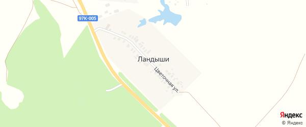 Цветочная улица на карте деревни Ландыши с номерами домов