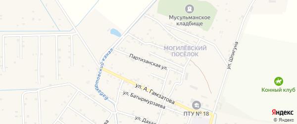 Партизанская улица на карте села Бабаюрта с номерами домов