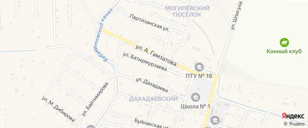 Улица Батырмурзаева на карте села Бабаюрта с номерами домов