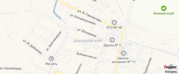 Улица М.Горького на карте села Бабаюрта с номерами домов