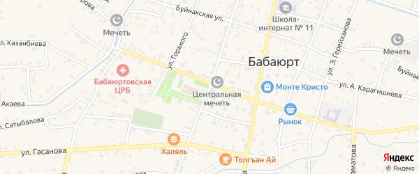 Улица Ленина на карте села Бабаюрта с номерами домов