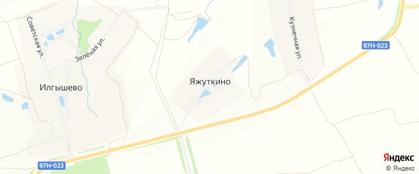 Карта деревни Яжуткино в Чувашии с улицами и номерами домов