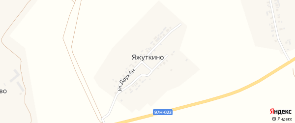 Улица Дружбы на карте деревни Яжуткино с номерами домов