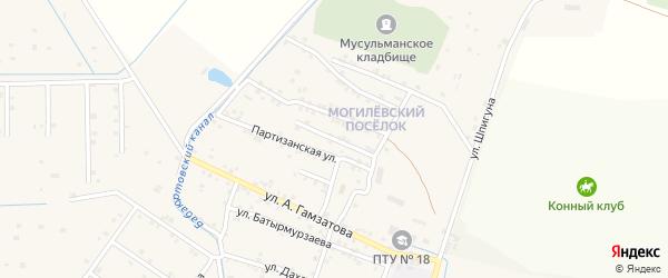 Молодежная улица на карте села Бабаюрта с номерами домов