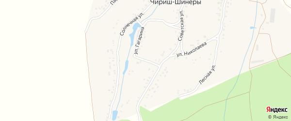 Улица Гагарина на карте деревни Чириша-Шинеры с номерами домов