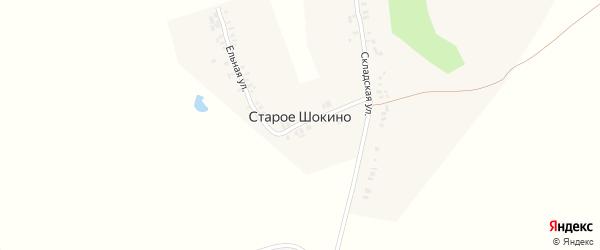 Ельная улица на карте деревни Старое Шокино с номерами домов