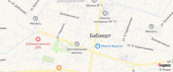 Дагестанская улица на карте села Бабаюрта с номерами домов