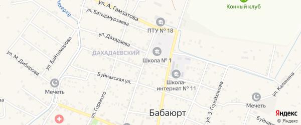 Улица Казбекова на карте села Бабаюрта с номерами домов