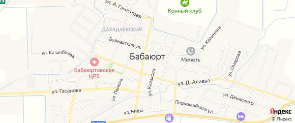 Карта села Бабаюрта в Дагестане с улицами и номерами домов