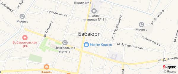 Комсомольская улица на карте села Бабаюрта с номерами домов