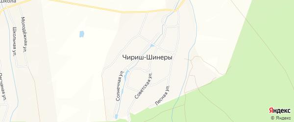 Карта деревни Чириша-Шинеры в Чувашии с улицами и номерами домов