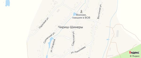 Советская улица на карте деревни Чириша-Шинеры с номерами домов