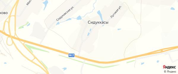 Карта деревни Сидуккас в Чувашии с улицами и номерами домов