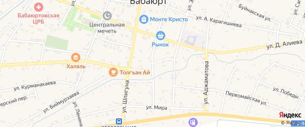 Улица Боявова на карте села Бабаюрта с номерами домов