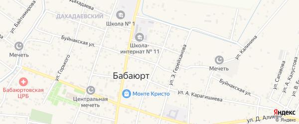 Буйнакская улица на карте села Бабаюрта с номерами домов