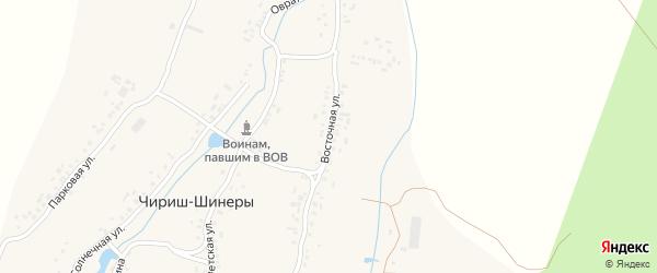 Восточная улица на карте деревни Чириша-Шинеры с номерами домов