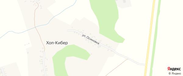 Складская улица на карте деревни Хопа-Кибера с номерами домов