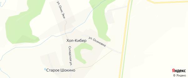 Карта деревни Хопа-Кибера в Чувашии с улицами и номерами домов
