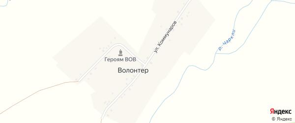 Улица Коммунаров на карте деревни Волонтера с номерами домов