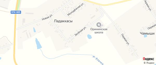 Центральная улица на карте деревни Вурманкасы (Ильинское с/п) с номерами домов