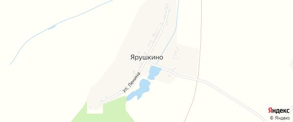 Восточная улица на карте деревни Ярушкино с номерами домов