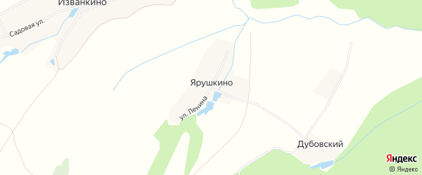Карта деревни Ярушкино в Чувашии с улицами и номерами домов