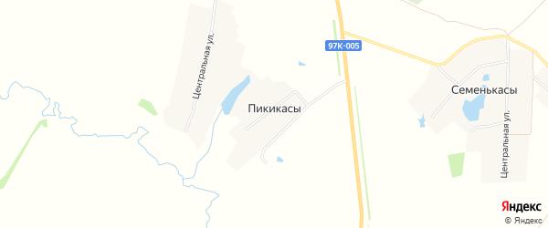 Карта деревни Пикикас в Чувашии с улицами и номерами домов