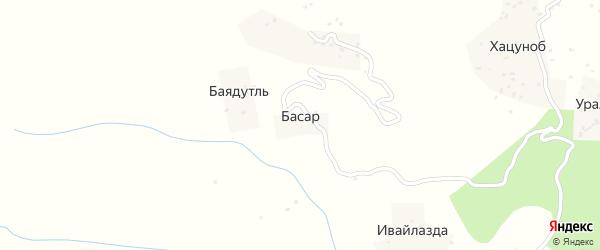 Басарская улица на карте хутора Басара с номерами домов