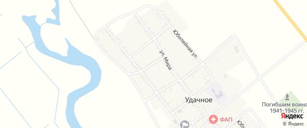Первомайский переулок на карте Удачного села с номерами домов