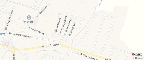 Улица Омарова на карте села Бабаюрта с номерами домов