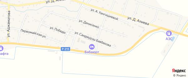 Улица 8 Марта на карте села Бабаюрта с номерами домов