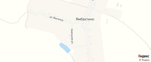 Улица Выселка на карте деревни Ямбахтино с номерами домов