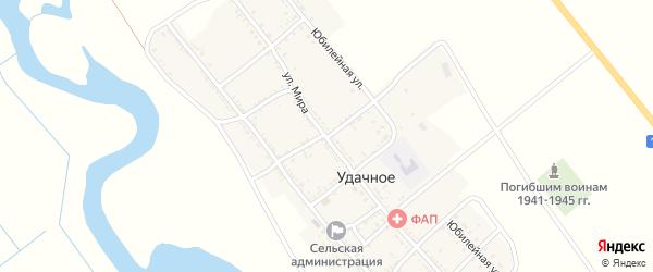 Степной переулок на карте Удачного села с номерами домов