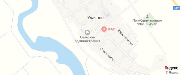 Советская улица на карте Удачного села с номерами домов