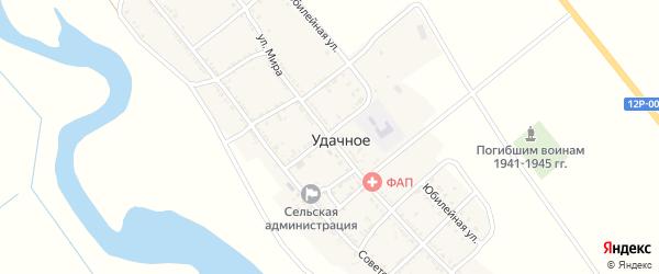 Колхозный переулок на карте Удачного села с номерами домов