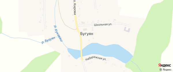 Улица Кирова на карте поселка Бугуяна с номерами домов