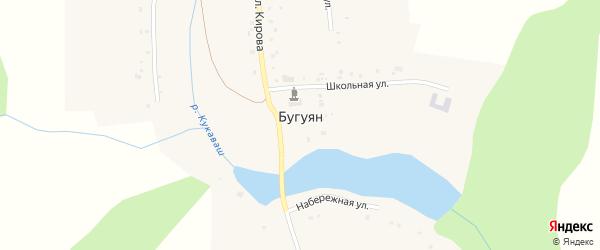 Заречная улица на карте поселка Бугуяна с номерами домов