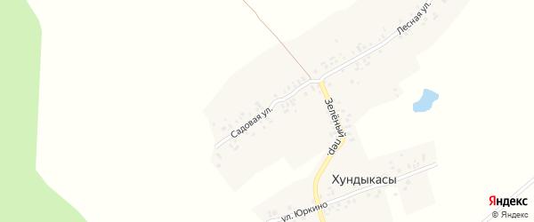 Садовая улица на карте деревни Хундыкас с номерами домов