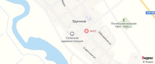 Почтовый переулок на карте Удачного села с номерами домов