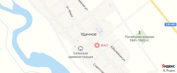 Коммунальный переулок на карте Удачного села с номерами домов