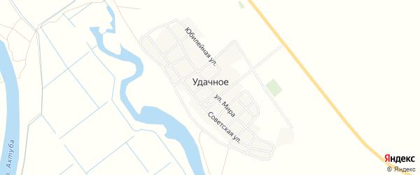 Карта Удачного села в Астраханской области с улицами и номерами домов