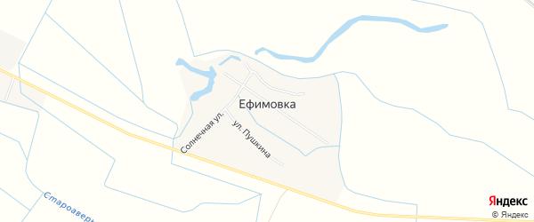 Карта села Ефимовки в Дагестане с улицами и номерами домов