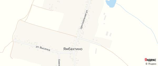 Центральная улица на карте деревни Ямбахтино с номерами домов