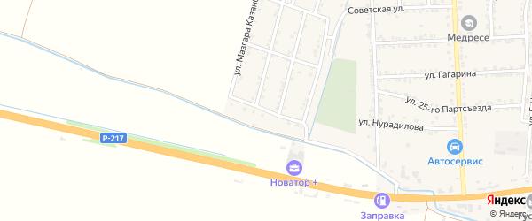 Улица Руслана Гаджиханова на карте села Зубутли-Миатли с номерами домов