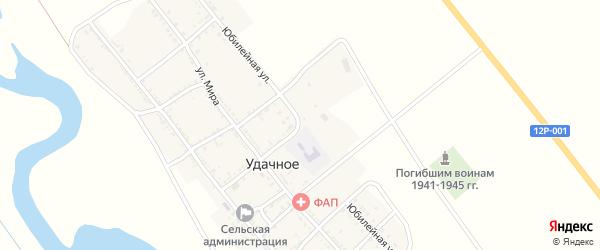 Юбилейная улица на карте Удачного села с номерами домов