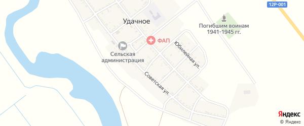 Садовый переулок на карте Удачного села с номерами домов