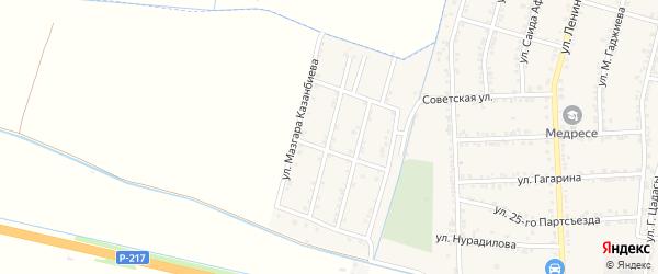 Улица Сайгидахмада Султаналиева на карте села Зубутли-Миатли с номерами домов